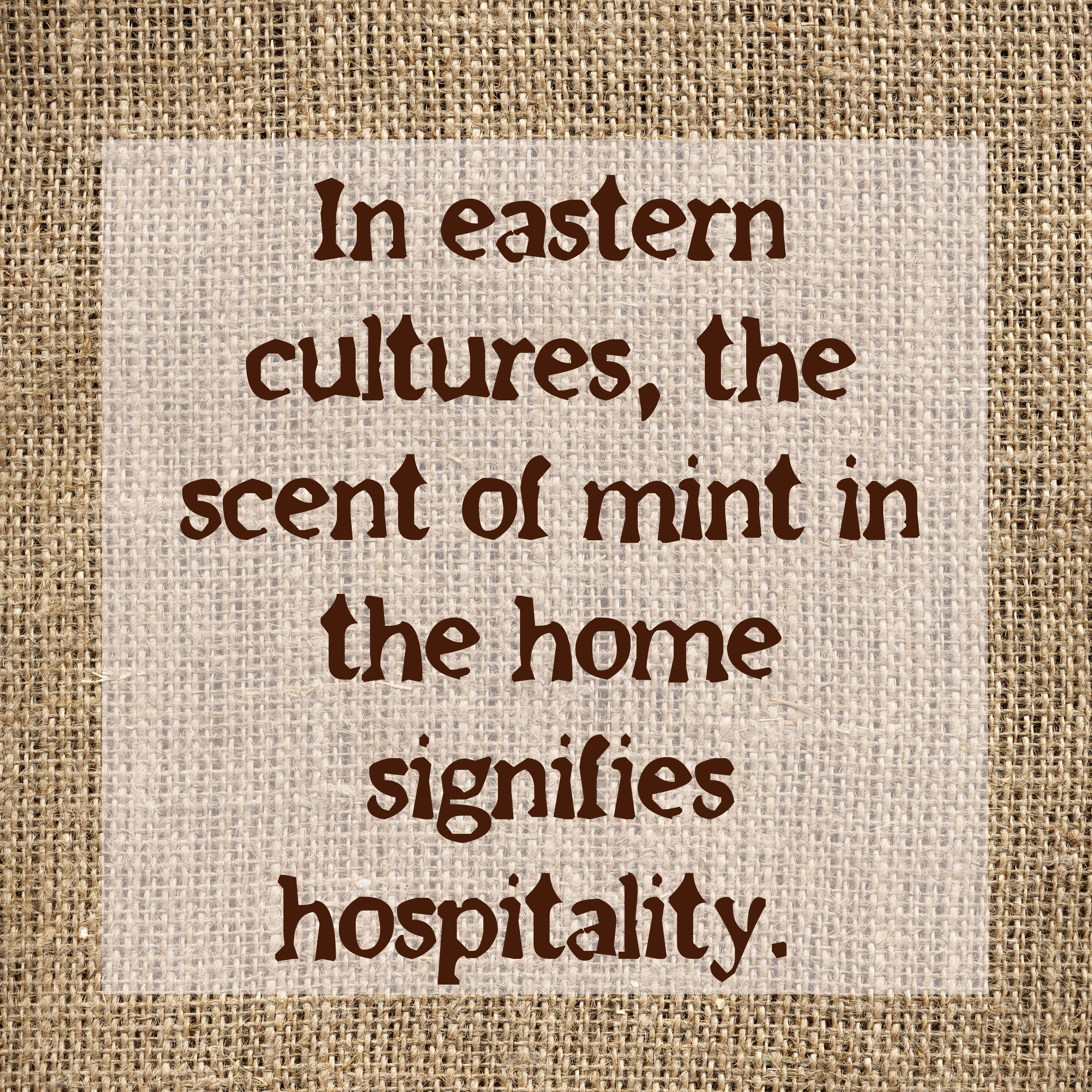 Mint for hospitality